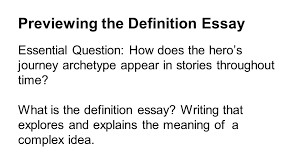 the challenge of heroism ppt  previewing the definition essay