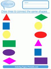 Shape identification preschool shapes worksheets for kindergarten. Learning Shapes Worksheets Coloring Pages Printable Com