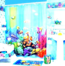 fish bathroom decor kids sets beautiful kid and koi decorations