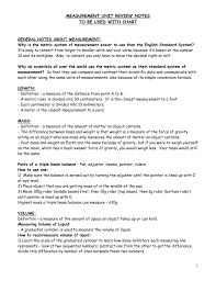 General Notes About Measurement