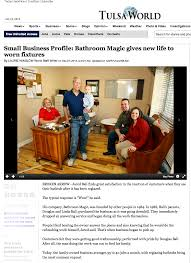 did you happen to see our article in the tulsa world check it out below and please feel free to ask any questions talk to you soon sinks bathtubs