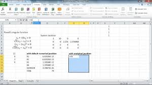 solving a nar system of equations in excel by nlsolve function part 2