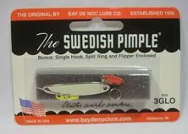 Swedish Pimple Color Chart Details About Bay De Noc Swedish Pimple Glo Nickel Fishing Jig Lure Size 3 1 5oz W Bonus