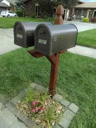 double mailbox post. Double Mailbox Post Makeover