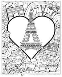 Small Picture Paris buildings Eiffel tower cute coloring page to download on