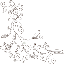花のイラストフリー素材白黒モノクロno015白黒かわいい絵2