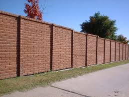 Small Picture 46 best Fences images on Pinterest Brick fence Fence ideas and