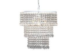beaded mini chandelier shades light fixture silver in clear home improvement cool amusing white uk wood