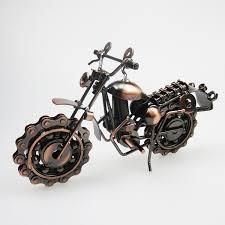 vine motorcycle model retro motor figurine iron motorbike prop boy gift kid toy home office decor thankser