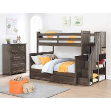 Ryan 2-piece Twin Over Full Staircase Bunk Bed Set