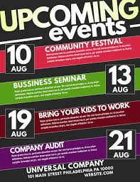 Upcoming Events Flyer Upcoming Event Template Postermywall