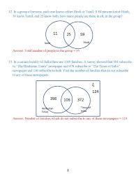 Venn Diagram Problems And Solutions Class 8 Venn Diagrams Exercise 2 Icse Isc Mathematics Portal