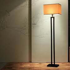 chinese modern black floor lamp flaxen fabric lampshade standing light for living room bedside home decor