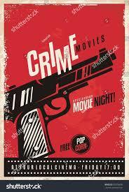 Movie Poster Design Template Crime Movies Poster Design Template Gun Stock Vector