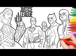 Justice League Coloring Pages How To Draw Batman Superman Wonder
