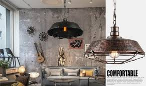 Image Rope Industrial Loft Antique Lamp Edison Bulb Vintage Pendant Light Fixtures Metal Hanging Droplight For Dining Room Indoor Lighting Solidropnet Industrial Loft Antique Lamp Edison Bulb Vintage Pendant Light
