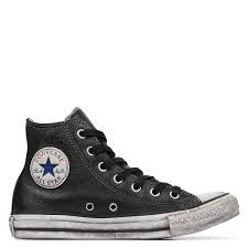 chuck taylor all star vintage leather black white black