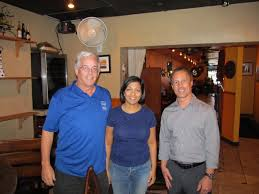 deerfield beach coders cafe dave noderer meeting co ordinator center this evenings presenter barkha herman and on the right our sponsor consultis representative john posse