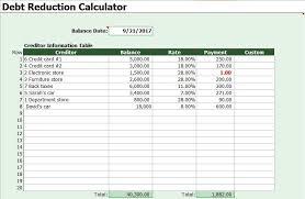 Debt Snowball Calculator Template Debt Snowball Calculator