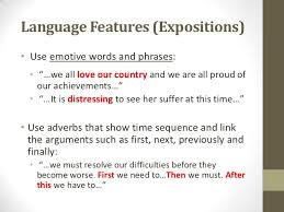 sec english language composition expository essays  9 language features