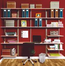 home office wall organization systems. Organizer System In. Decoration Ideas. Astonishing Red Wall Painting Room With Parquet Flooring And Mounted White Wooden Home Office Organization Systems