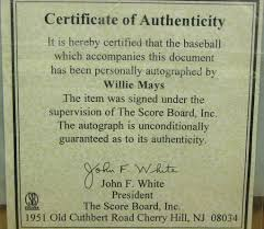 27 Images Of Certificate Of Authenticity Template Autograph