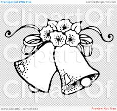 Clipart Illustration Of Two Wedding Bells With Flowers By C