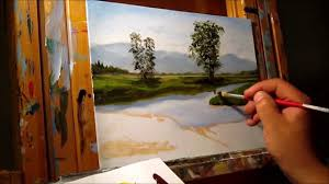 green meadows demonstration basic traditional landscape oil painting tutorial you