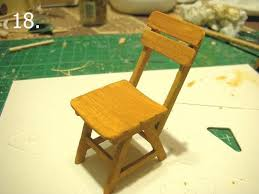 miniature dollhouse furniture woodworking. Miniature Chair How-to - Nice But I Think May Adjust The Tilt Of Back, Too Sloped Dollhouse Furniture Woodworking U