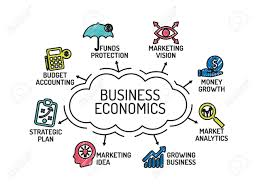 Business Chart Images Business Economics Chart With Keywords And Icons Sketch