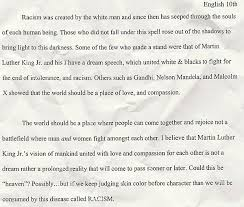 about racism essay about racism