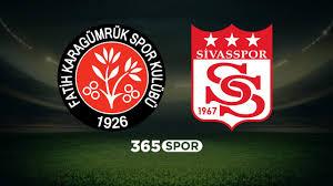 Fatih Karagümrük - Sivasspor maç sonucu: 1-1 - Futbol Haberleri