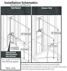 shower rough in how to a isometric plumbing diagram drain dimensions delta pex valve only dra