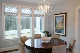 what is the size of orb chandelier over this table