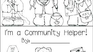 Community Helpers Coloring Pages Nurse Ty Helper Book Free H