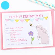 Make Birthday Party Invitations Bunny Personalised Birthday Party Invitations By Superfumi