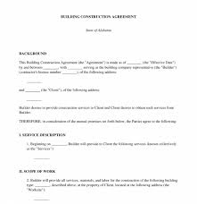 July 1, 2014 to june 30, 2019. Building Construction Agreement Sample Template