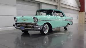 1957 Chevrolet Bel Air Convertible in Surf Green & Engine Sound on ...