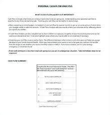 Cash Flow Summary Template Direct Cash Flow Statement Template