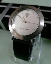 lamborghini watch bnib mens tonino lamborghini watch stainless silver black leather quartz