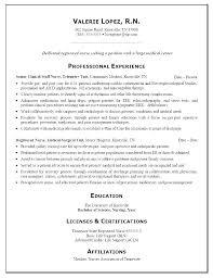 Registered Nurse Resume Examples Sample Best Nursing Ideas