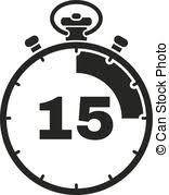 Timer For 15 Min Mechanical Watch Timer 15 Minutes Vector Illustration Isolated On