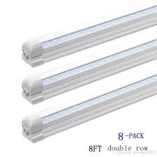 Led Vs T8 Shop Light Led Shop Light Fixture 8ft T8 72w 7200lm Clear Cover 6000k White Tube Light Plug And Play For Garage Warehouse 25 Pack Led Tube Dmx Led Tubes To