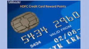 hdfc credit card reward points range