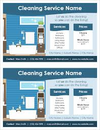 commercial cleaning flyer templates cleaning service flyer template 2 per page by vertex42 com
