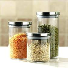 glass kitchen jars decorative large glass kitchen canisters