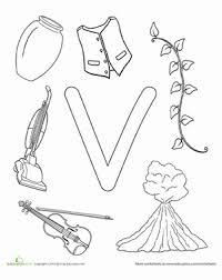 V Is For Worksheet Educationcom