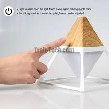 pyramid shape wall decoration touchable and waterproof eye protecting modern led table lamp home desk bedside