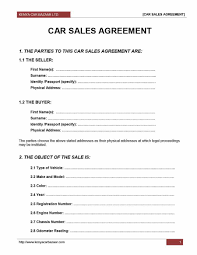 Used Car Sale Agreement Form 11095 42 Printable Vehicle