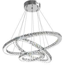 modern crystal chandelier lighting ceiling dining room living room chandeliers contemporary led light fixtures hanging 3 ring foyer girls bedroom pendant
